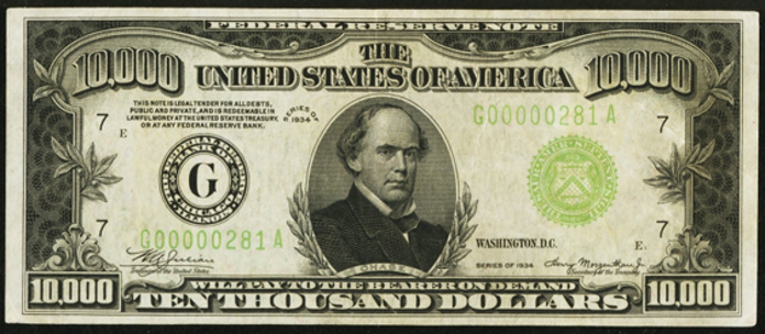 1934A $10000 Federal Reserve Note Value – How much is 1934A $10000 Bill Worth?
