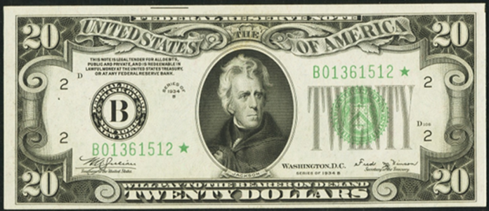1934B $20 Federal Reserve Note Value – How much is 1934B $20 Bill Worth?