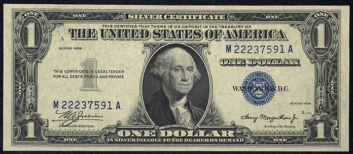 1935 $1 Silver Certificate Value – How much is 1935 $1 Bill Worth?