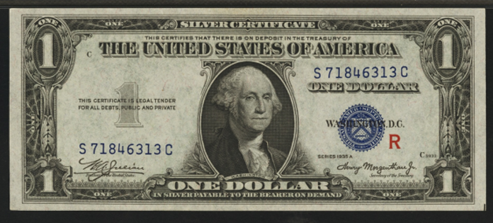 1935AR $1 Silver Certificate Value – How much is 1935AR $1 Bill Worth?