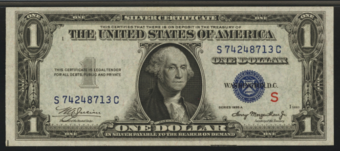 1935AS $1 Silver Certificate Value – How much is 1935AS $1 Bill Worth?