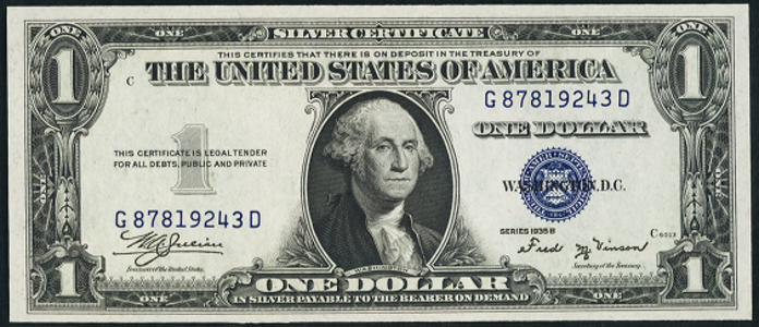 1935B $1 Silver Certificate Value – How much is 1935B $1 Bill Worth?