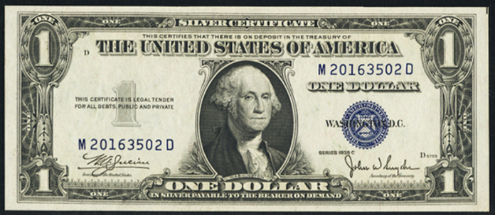 1935C $1 Silver Certificate Value – How much is 1935C $1 Bill Worth?
