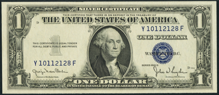1935D $1 Silver Certificate Value – How much is 1935D $1 Bill Worth?