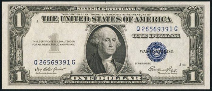 1935E $1 Silver Certificate Value – How much is 1935E $1 Bill Worth?