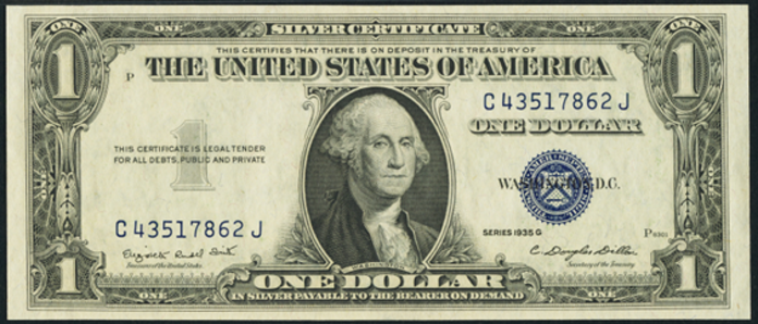 1935G $1 Silver Certificate Value – How much is 1935G $1 Bill Worth?