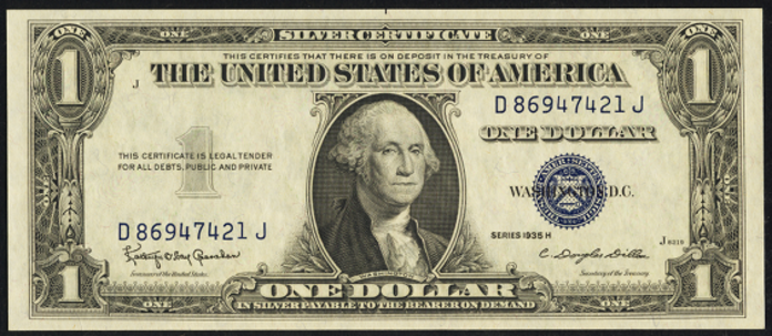 1935H $1 Silver Certificate Value – How much is 1935H $1 Bill Worth?