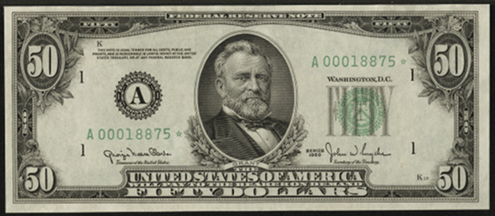 1950 $50 Federal Reserve Note Value – How much is 1950 $50 Bill Worth?