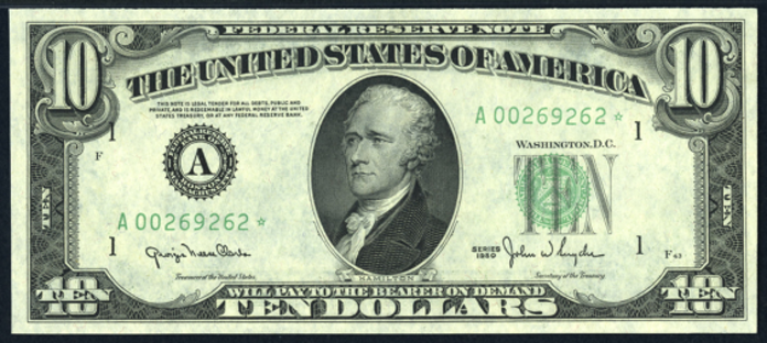 1950 $10 Federal Reserve Note Value – How much is 1950 $10 Bill Worth?