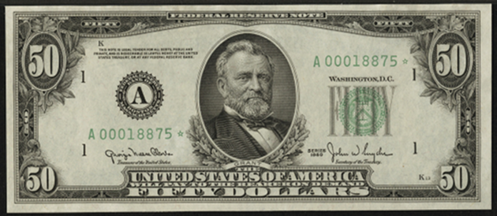 1950A $50 Federal Reserve Note Value – How much is 1950A $50 Bill Worth?