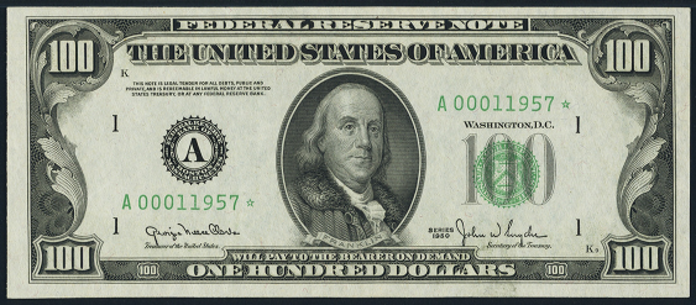1950A $100 Federal Reserve Note Value – How much is 1950A $100 Bill Worth?
