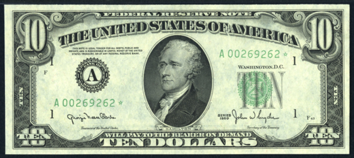 1950A $10 Federal Reserve Note Value – How much is 1950A $10 Bill Worth?