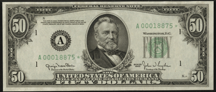 1950B $50 Federal Reserve Note Value – How much is 1950B $50 Bill Worth?
