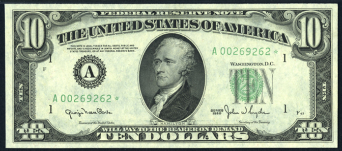 1950B $10 Federal Reserve Note Value – How much is 1950B $10 Bill Worth?