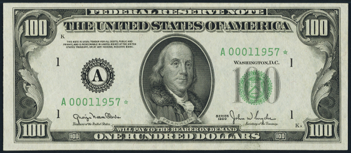 1950C $100 Federal Reserve Note Value – How much is 1950C $100 Bill Worth?