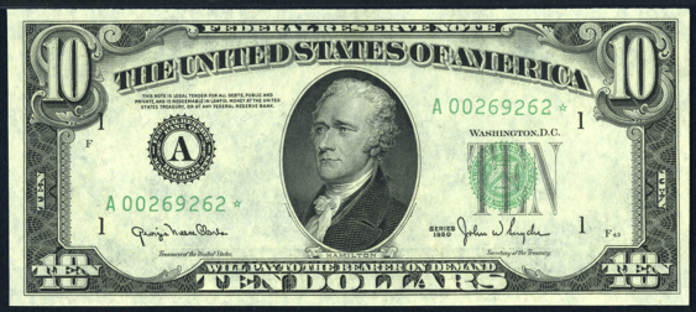 1950C $10 Federal Reserve Note Value – How much is 1950C $10 Bill Worth?