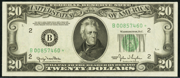 1950C $20 Federal Reserve Note Value – How much is 1950C $20 Bill Worth?