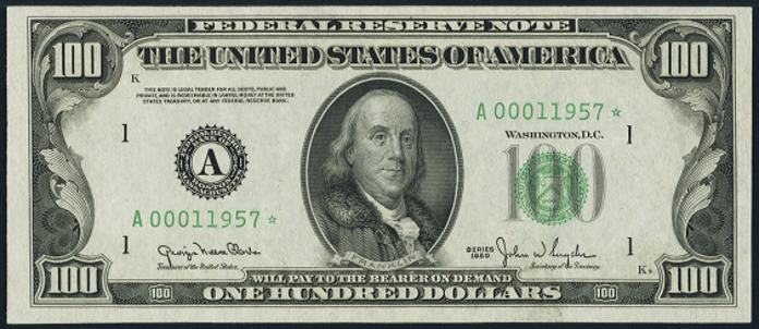 1950D $100 Federal Reserve Note Value – How much is 1950D $100 Bill Worth?