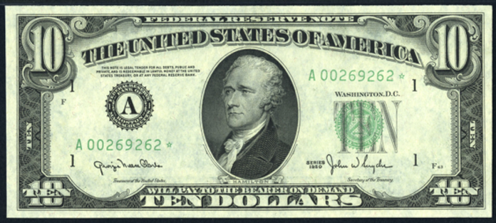 1950D $10 Federal Reserve Note Value – How much is 1950D $10 Bill Worth?