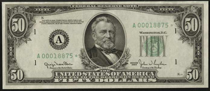 1950E $50 Federal Reserve Note Value – How much is 1950E $50 Bill Worth?