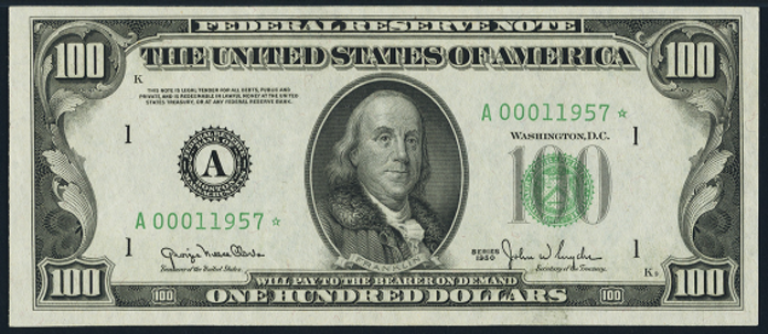 1950E $100 Federal Reserve Note Value – How much is 1950E $100 Bill Worth?