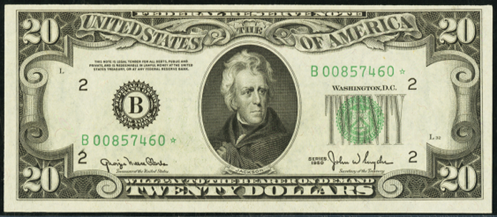 1950E $20 Federal Reserve Note Value – How much is 1950E $20 Bill Worth?