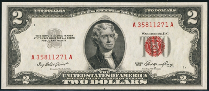 1953 $2 Legal Tender Value – How much is 1953 $2 Bill Worth?