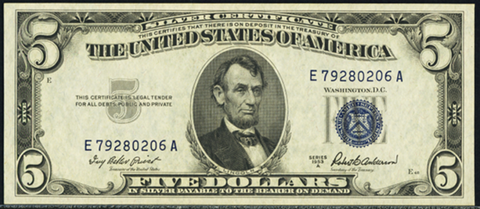 1953A $5 Silver Certificate Value – How much is 1953A $5 Bill Worth?
