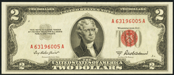 1953A $2 Legal Tender Value – How much is 1953A $2 Bill Worth?