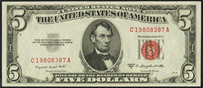 1953B $5 Legal Tender Value – How much is 1953B $5 Bill Worth?