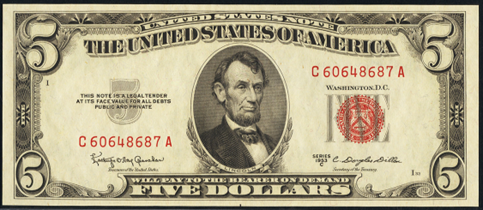 1953C $5 Legal Tender Value – How much is 1953C $5 Bill Worth?