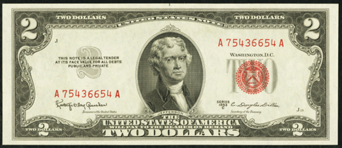 1953C $2 Legal Tender Value – How much is 1953C $2 Bill Worth?
