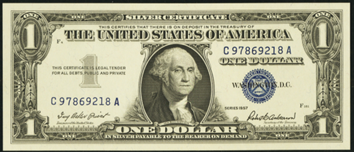 1957 $1 Silver Certificate Value – How much is 1957 $1 Bill Worth?