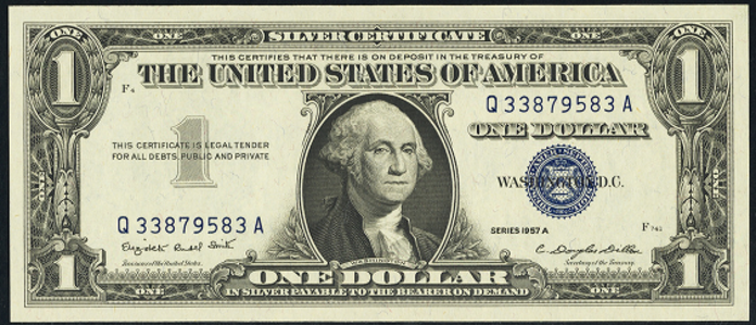 1957A $1 Silver Certificate Value – How much is 1957A $1 Bill Worth?