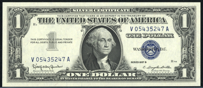 1957B $1 Silver Certificate Value – How much is 1957B $1 Bill Worth?