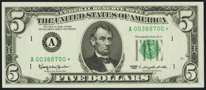1963 $5 Federal Reserve Note Value – How much is 1963 $5 Bill Worth?