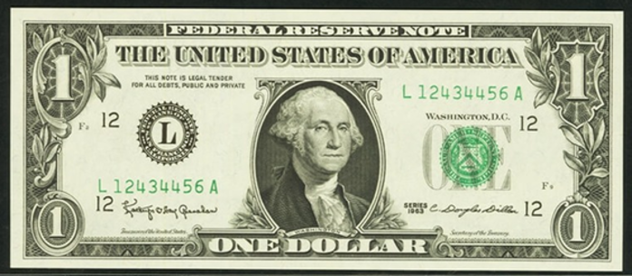 1963 $1 Federal Reserve Note Value – How much is 1963 $1 Bill Worth?