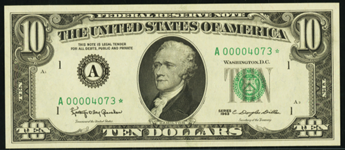 1963 $10 Federal Reserve Note Value – How much is 1963 $10 Bill Worth?