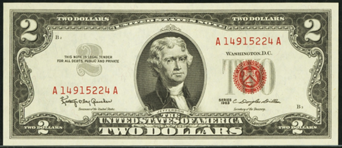 1963 $2 Legal Tender Value – How much is 1963 $2 Bill Worth?