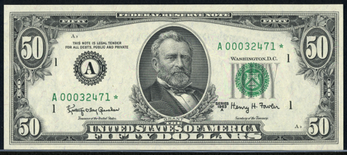 1963A $50 Federal Reserve Note Value – How much is 1963A $50 Bill Worth?