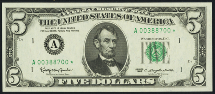 1963A $5 Federal Reserve Note Value – How much is 1963A $5 Bill Worth?