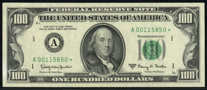 1963A $100 Federal Reserve Note Value – How much is 1963A $100 Bill Worth?