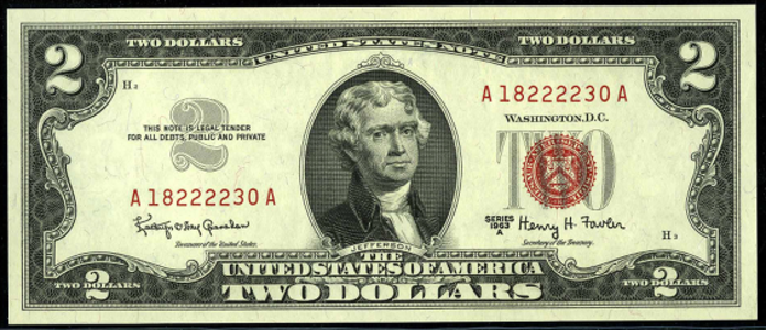 1963A $2 Legal Tender Value – How much is 1963A $2 Bill Worth?