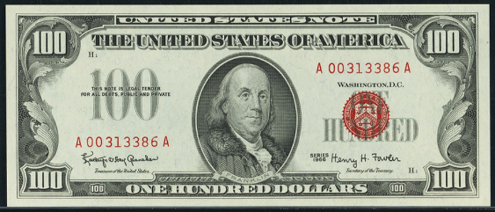 1966 $100 Legal Tender Value – How much is 1966 $100 Bill Worth?