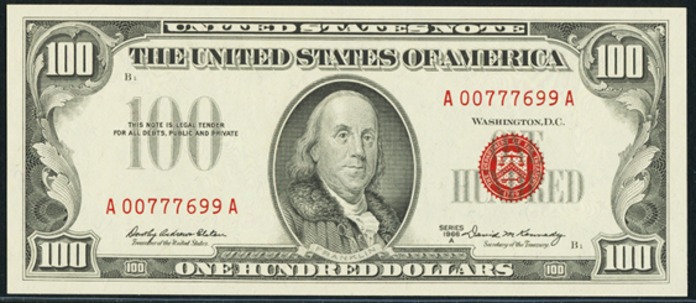 1966A $100 Legal Tender Value – How much is 1966A $100 Bill Worth?