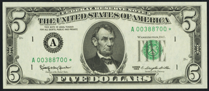 1969A $5 Federal Reserve Note Value – How much is 1969A $5 Bill Worth?