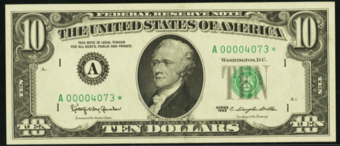 1969A $10 Federal Reserve Note Value – How much is 1969A $10 Bill Worth?