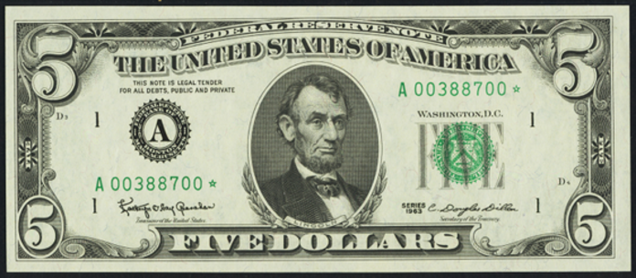 1969B $5 Federal Reserve Note Value – How much is 1969B $5 Bill Worth?
