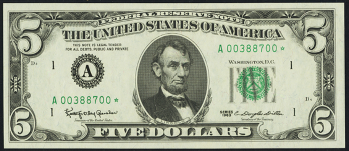 1969C $5 Federal Reserve Note Value – How much is 1969C $5 Bill Worth?