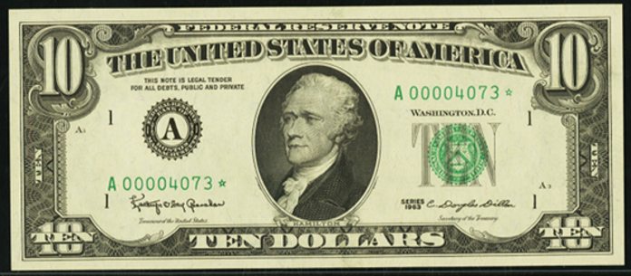 1969C $10 Federal Reserve Note Value – How much is 1969C $10 Bill Worth?